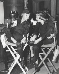 White Christmas 1951 On the Set: Vera-Ellen & Rosemary Clooney