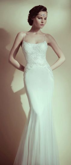 spaghetti straps, mermaid, 20's style dress