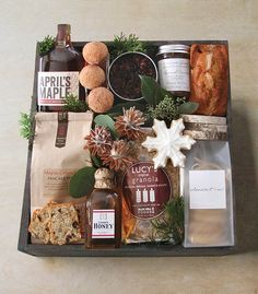 It's never too early - or late - to brighten someone's day with a Winston Flowers' gourmet breakfast gift crate. Wine Gift Baskets, Gourmet Gift Baskets, Gourmet Gifts, Food Gifts, Basket Gift, Diy Holiday Gifts, Diy Gifts, Best Gifts, Breakfast Basket