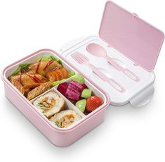 Bento Lunch Box – 3 Tier Box Containers – FDA Approved, BPA Free Meal Box Microwave, dishwasher, & freezer BPA-free bento box - all food grade materialsIncludes built-in plastic silverware - fork, knife and spoon Lunch Box Containers, Food Storage Containers, Microwave Freezer Meals, Bag Lunch, Lunch Saludable, Lunch Box With Compartments, Boite A Lunch, No Bake Snacks, Clean Eating Snacks