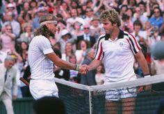 Roscoe Tanner et Bjorn Borg 1979