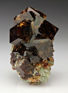 Brown Grossular Garnet Crystals