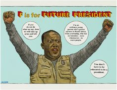 Anton Kannemeyer: F is for Future President South African Art, Im Jealous, Africa Art, Its Nice That, Letter Set, Cool Fonts, Anton, Lettering, Alphabet