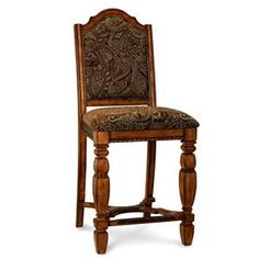 Beautiful chair to go in a Spanish Style room! or a vintage study available at Zak's Furniture