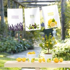 #design3000 Geschirrtuch Trattoria - Handtuch mit Oliven-Print.