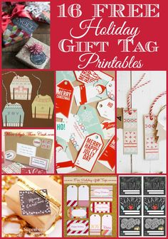 16 {Free} Holiday Gift Tag Printables