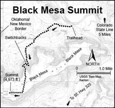 Information for Black Mesa, Oklahoma's highest point at feet. Highpointers Club members frequent this trail. Maps, photos and accommodations for Black Mesa found here. New Mexico, Colorado, Camping Near Me, Trail Guide, Trail Maps, Travel Oklahoma, Camping World, Mexico Travel, Adventure Is Out There