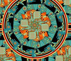 Ani-mandala fabric by thirdhalfstudios on Spoonflower - custom fabric