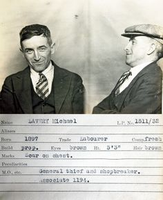 10 Mugshots From the 1930s with Curious Details. This guy just seems happy to be here. And his side profile resembles Ryan Gosling.