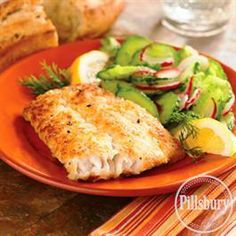 Potato and Parmesan Crusted Halibut from Pillsbury® Baking
