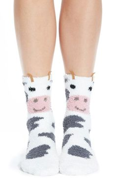 PJ Salvage 'Cozy Plush Cow' Socks available at #Nordstrom