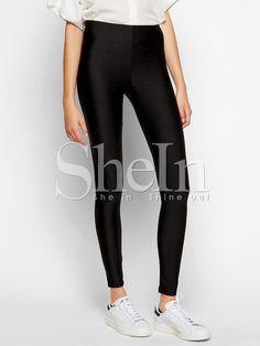 Shop Black Slim Elastic Leggings online. SheIn offers Black Slim Elastic Leggings & more to fit your fashionable needs.
