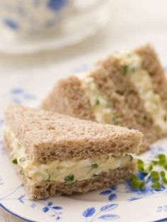Deviled Egg Sandwiches  A twist on traditional egg salad sandwiches, they are, indeed, flavorful, unusual, and a perfect tea sandwich.