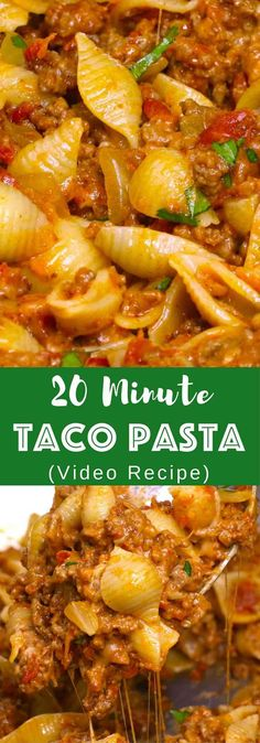 20 Minute One Pot Cheesy Taco Pasta Recipe (with Video) | TipBuzz