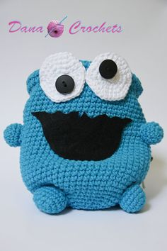 Blue Character Monster Rock Climbing Chalk by DanaMarieCrochets, $52.50