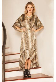 Shop Simone Dress in Brown Snake. #RamonaLaRue #Boutique #Miami #BohemianStyle #ShopMiami #Designer #MadeInMiami #Clothing #Womenswear #Clothing #Dress #BrownSnakePrint  #Fashion