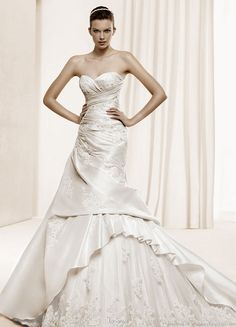 La Sposa 2011  Bridal Gown Collection -- Delfos strapless wedding dress with  multi-layer skirt