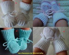 La suite des petits chaussons présentés le 12 février 2018 Baby Booties Knitting Pattern, Crochet Baby Booties, Baby Knitting Patterns, Knitting Designs, Knitting For Kids, Crochet For Kids, Diy Crochet, Crochet Hats, Tricot Baby