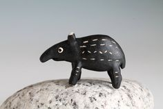 Ceramic Tapir  baby tapir sculpture original hand by midoritakaki