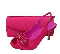 Menbur Avance Fuchsia Pink Peep Toe Shoes