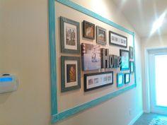 Framed photo wall