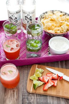 Refreshing snacks and cocktails made with Captain Morgan Flavored Rum.