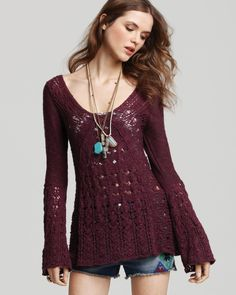 Free People lace sweater.