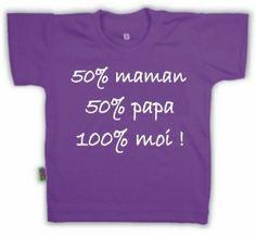 T-shirt enfant avec inscription : 100% moi !