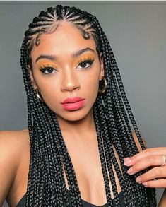 43 Cool Blonde Box Braids Hairstyles to Try - Hairstyles Trends Blonde Box Braids, Braids For Black Hair, Cornrows With Box Braids, Brown Box Braids, Braids Cornrows, Braids For Black Women, Twist Braids, Curly Hair Styles, Hair And Beauty