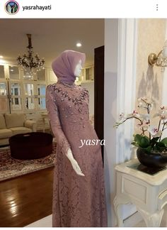 Dress Brokat Muslim, Dress Brokat Modern, Muslim Dress, Kebaya Muslim, Kebaya Hijab, Kebaya Dress, Dress Pesta, Simple Long Dress, Simple Elegant Dresses