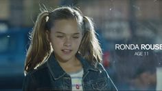 Fearsome fighter Ronda Rousey's little sister plays her in a poignant new promo about her life