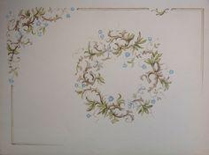 Sketch. Design for a  ceiling