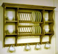 Classic Plate Racks Design IdeasKitchen Furniture, Open Shelves, Kitchens Wall, Kitchens Ideas,