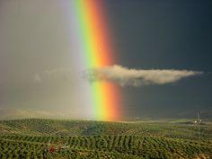 Nubes y arco iris #rainbow