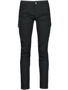 Cool Elastic Slim Solid Color Pencil Casual Pants For Lady Black on buytrends.com