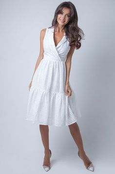 Платье | Skazkina Formal Dresses For Men, Casual Dresses, Short Dresses, Summer Dresses, White Dress Outfit, Dress Outfits, Fashion Dresses, Look Street Style, Cooler Look