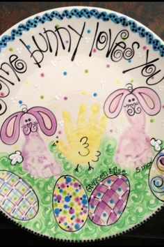 Easter handprint/footprint