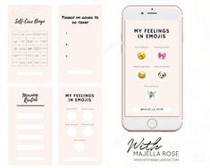 Instagram Story Template, In My Feelings, Emoji, Self, Social Media, Templates, Engagement, Blog, Etsy