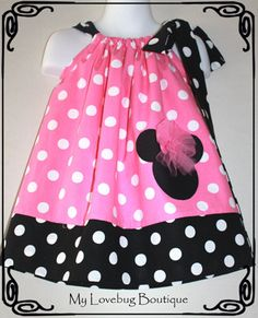 Hey, I found this really awesome Etsy listing at https://www.etsy.com/listing/174384950/minnie-mouse-pillowcase-dress