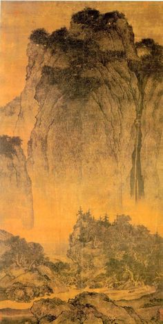 """Fan Kuan (范寬 990-1030) is known to be one of the leading artists of the Northern Song landscape painting. The most famous painting by Fan Kuan is titled """"Travelers Amid Streams and Mountains."""" It is one of the greatest example of the traditional Chinese landscape paintings and a model for all Chinese artists. This monumental painting is based on the Taoist principle of """"becoming one with the nature""""(天人合一)."""
