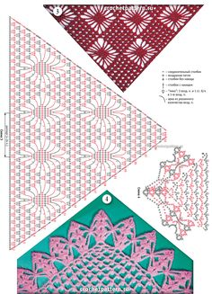 Página №57.  Padrões e padrões para crochet.
