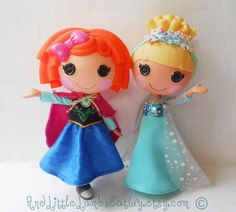 Disney Frozen Elsa and Anna Dress Clothes for Lalaloopsy Doll by And Little Lambs Eat Ivy via Etsy