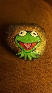 Image result for kermit the frog painted rock