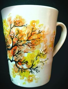 Inspired  hand painted mug by vesnadelevska on Etsy, $45.00