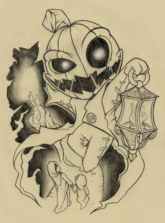 Español: ya acercándose Halloween e decidido hacer un tattoo con un motivo para la ocasión y recordando a mi antiguo personaje Punking que ya hace mucho no dibujaba aquí les dejo el diseño ya en la...