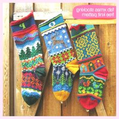 I'm constantly on a lookout for some free knitting patterns for Christmas stockings. Stockings are a perfect Christmas projects to give as a gift. Knitting Charts, Knitting Socks, Knitting Patterns Free, Free Knitting, Free Pattern, Knitting Machine, Knit Socks, Fair Isle Knitting, Pattern Ideas