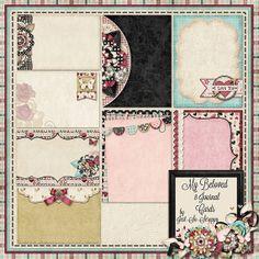 My Beloved Digital Scrapbook Kit Journal Cards by JssScrapBoutique, $2.99