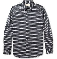 Marni Houndstooth-Print Cotton Shirt | MR PORTER
