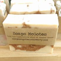 So, I was soaping one day and I wondered what frankincense essential oil soap would smell like if I swirled a lot of pumpkin pie spice, honey and brown sugar through it.....This was what happened. A ton of awesome. It smells like an amazing hunk of spice cake, but don't eat it.....Its for your ou...