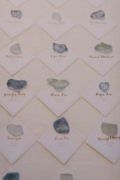 LOVE LOVE LOVE this seaglass to hold the placecards of names